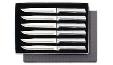 Rada S06 Steak Knives 6pc gift boxed Non Serrated sharp USA made cutlery Grill