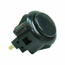 Genuine Black Sanwa OBSF-24 Snap In Arcade Button - 24mm Mounting Hole