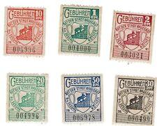RADEGAST, Dessau, Köthen 6 verschiedene Marken auf Reichspfennig und Reichsmark
