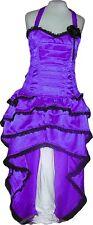 Purple Bustle Skirt Dress Steampunk Queen Cosplay Reenactment Victorian Plus USA