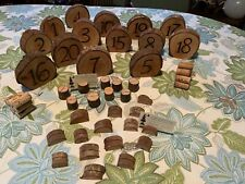 Rustic Wooden Wedding Table Numbers, Set of 14 And 25 Card Holders/