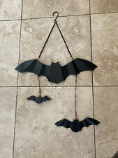 Iron and glass Hanging Bats decor black for halloween Tag