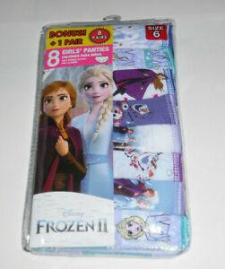 Disney Frozen 2 Undies Cotton 8 Panty NIP Underwear Girls Size 6 Multicolor NIP