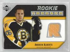Andrew Alberts 2005-06 Upper Deck Rookie Threads Jersey Card