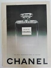 1950 CHANEL BOIS DES ILES perfume bottle vintage original ad