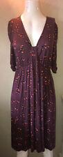 MONSOON dress size 12 dark Plum Jersey Dress Autumn Winter