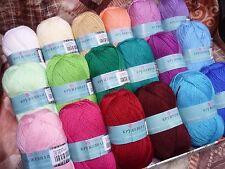 18 Acrylic Yarn Skeins Assorted Colors Huge Lot Mixed 100% Acrylic Wool Balls