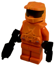 **NEW** LEGO Custom - ORANGE HALO SPARTAN - Master Chief Xbox Game Minifigure