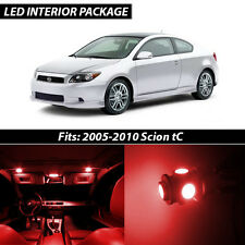 2005-2010 Scion tC Red Interior LED Lights Package Kit
