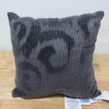 "NEW Savannah Chenille/Aberdeen Knit 16"" Square Decorative Pillow Grey H5050"