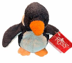 Russ Luv Love Pet Pets Artie Plush Penguin Black White Chamois