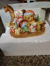 Signed Cherished Teddies: Tawny. Christmas Bear. 2005 Enesco Figurine Signed