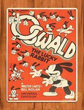 TIN SIGN Walt Disney Mickey Oswald The Lucky Rabbit Cartoon Movie Art Poster