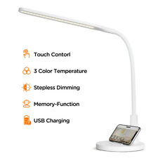 LED Desk Lamp Dimmable Lighting Fixture with USB Charging...