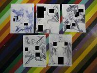 2000s Julius Zimmerman art pop lot of sm prints - mixed comic marvle deece