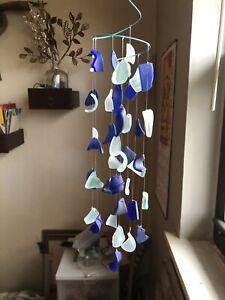Sea Glass Sun Catcher Chimes. Handmade