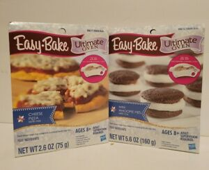 Easy-Bake Ultimate Oven Lot Of 2 Refill Mixes. Pizza and whoopie pies. New.