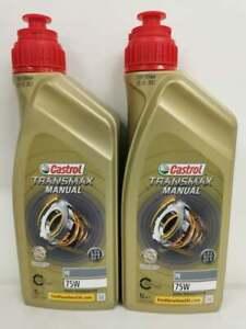 Castrol TRANSMAX Manual FE 75W Gearbox Oil - Ford Focus MK2 ST225 RS 2 Litre 2L