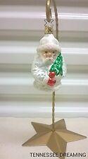 Vintage Old World Christmas Snow White Santa Ornament Enga-Glas Collection