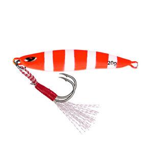 Vertical Jigging Lure Lead Jig 20g Luminous Laser Balanced Sea Fishing Bait Bass