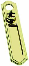 Solid Polished Brass Vertical Letter Plate / Flap with Door Pull (PB06A)