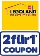 1 Gutschein 2:1, 1x EINTRITT FREI im Legoland Discovery Centre Berlin 31.12.2019