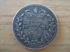 More details for 1825 maundy threepence - george iv 4th - superb little coin as pictured