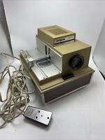 Argus 500 Electromatic Model 558 Slide Projector With Remote Vintage 660W USA