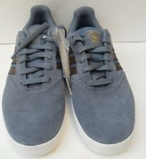 Men's Adidas Suciu ADV II  New Blue Suede Lace Up Trainers - Size UK 6 EUR 39.5