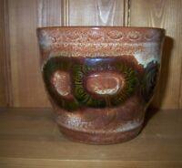 Vintage Scheurich Keramik West Germany Plant Pot/Planter - 887-12 - Sunflowers