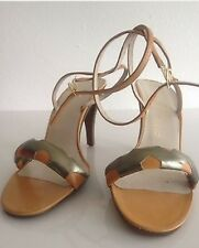 1970s Vintage Charles Jourdan Ankle Strap Heels Size 6.5 Made In France