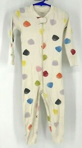 HANNA ANDERSSON - BABY SIZE 90 CM - US 3 - IVORY W/ MULTICOLOR DOTS PAJAMA'S