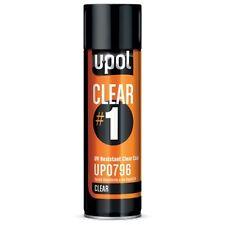 U-Pol Clear #1 UV Resistant High Gloss Clear Coat Spray Car Paint Repair UP0796