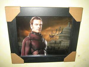 Michael Fassbender -  Excellent Hand Signed Photograph {10x8} Framed + CoA