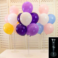 1Set Balloons Column Stand Plastic Balloon Support with 7 tubes for Party Decor.