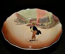 "Vtg Royal Doulton Dickens Ware Mr Pickwick Serving Bowl Scalloped Edge 9 1/4"""