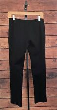 MISSION Woman's Black Exposed Seam Tab Closure Pants size 4