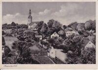 uralte AK, Kemnitz Oberlausitz Kirche Teilansicht 1957 Nr.39