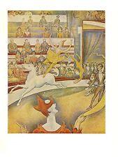 "1968 Vintage SEURAT ""THE CIRCUS"" COLOR offset Lithograph"