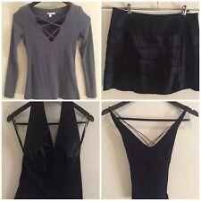 Ladies Clothing Set, X 4 items Kookai Size 1, Sz 10 Skirt, S,M Tops