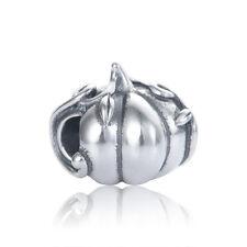 Silver Pumpkin Charm - European Charm Bead - Gift Packaging Included