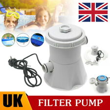 More details for electric filter pump swimming paddling pool above ground cleaning tool 300gal/h