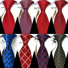 New Classic 8CM Men Tie Luxury Plaid Business Necktie Red Mens Ties For Wedding