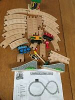 Thomas Wooden Train Conductor's Figure 8 Track Set Sir Caboose Box Car