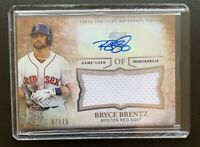 2015 Topps Triple Threads BRYCE BRENTZ Autograph Jersey Patch Relic Card SP /75