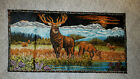 Wall Tapestry Woodland Scene made in Lebanon 38x19.5