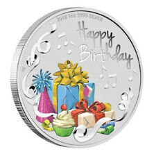 2018 Australia Happy Birthday 1oz $1 Silver dollar Coin Colorized