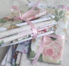 Bundle Vintage French Salon Fabric Summer Drawing Room Floral scraps remnants