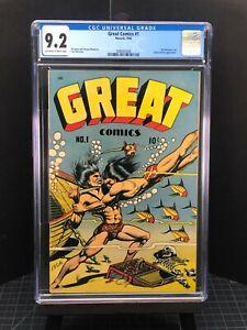 Great Comics #1 - 9.2 CGC - Classic L.B. Cole.