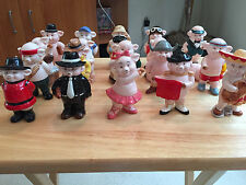 "Danbury Mint ""Piggies"" ~ Entire 25 Piece Figurine Set in Mint Condition"